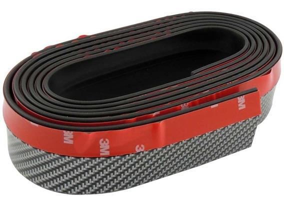 Spoiler Flexível Front Lip Ez Lip Universal Carbon 2,5mx5cm