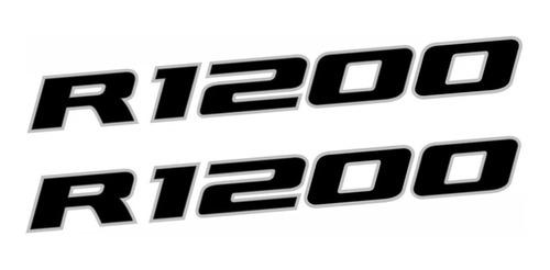 Imagem 1 de 3 de Adesivo Emblema Paralama Bmw R1200 Gs Adventure Preto Par
