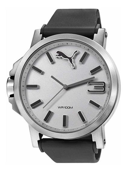 Reloj Puma 50mm Para Hombre Plata Movimiento De Cuarzo