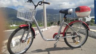 Bicicleta Que Já Foi Elétrica Em Aço Amortecedor A Mola