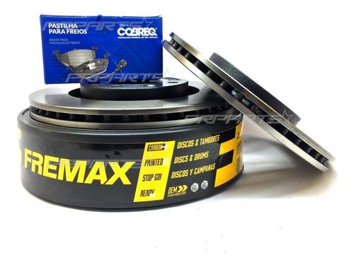 Imagem 1 de 1 de Kit Discos 256mm + Pastilhas Dianteira Gol G6 2012 2013 2014