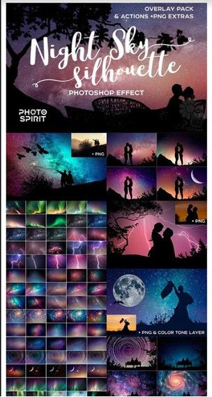 Overlays Noite Fotografia Ps