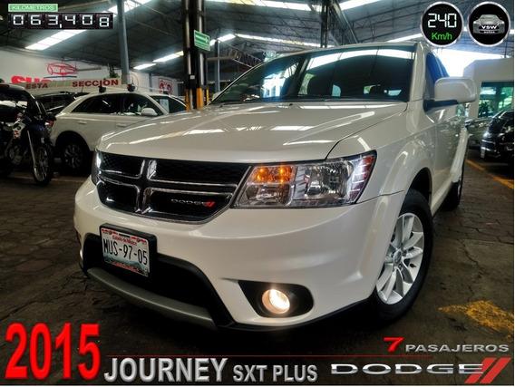 2015 Journey Sxt Piel 7 Pasajeros, Un Dueño, Servicios, Dvd