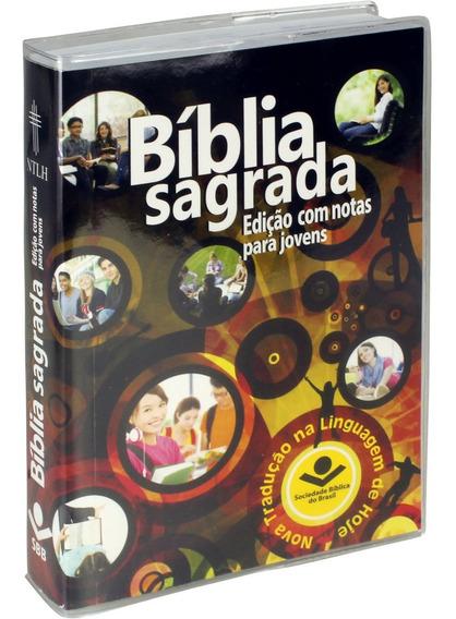 Bíblia Sagrada Ntlh Com Notas Para Jovens / Capa Educação