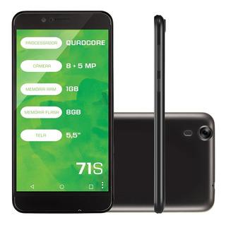 Smartphone Mirage 71s Com 1gb Ram E 8gb - Novo - Preto