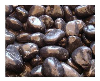 Marmol Boleado Negro Variedad Medidas Saco 20 Kg Costal