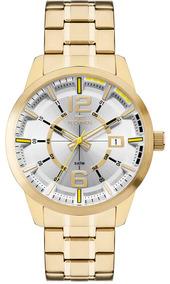 Relógio Technos Dourado Masculino 2315kzw/4d Analógico + Nf