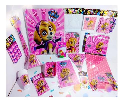Set Kit Infantil Fiesta Skye Paw Patrol Económico 12 Invitad