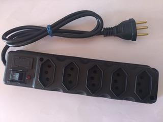 Filtro De Linha / Régua 5 Tomadas C/ Proteção,chave