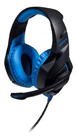 Fone Headset Gamer Com Led 2.0 Usb Azul Multilaser Ph244 Ps4