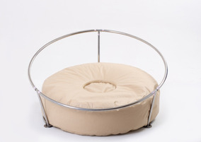 Kit Suporte Aço Inox Mini Com Puff Para Newborn