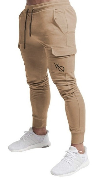 Pants Jogger Gym, Fitness, Bolsa Laterales, Logotipo Bordado