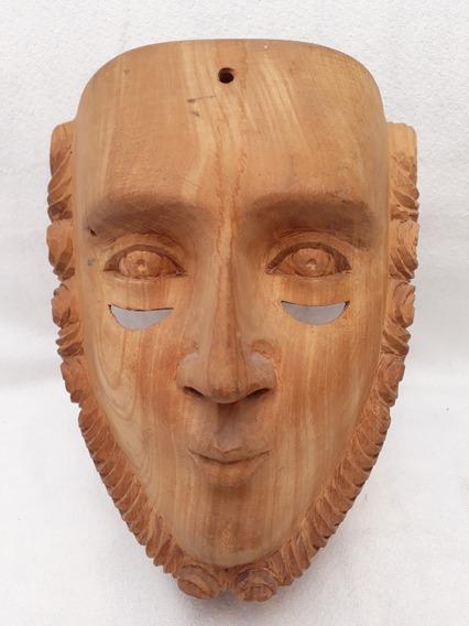 Máscara De Parachico Madera Parota Huanacaxtle Sin Pintar