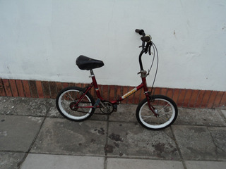 Bicicleta Plegable Rodado 14 Excelente Estado