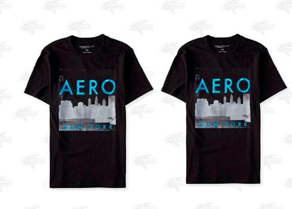 2 Aéropostale Playera Para Caballero Color Negro Xtreme