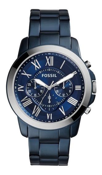 Relógio Fossil Masculino Azul Grant Chronograph Fs5230
