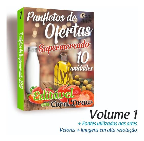 Folheto Panfleto De Mercado Encarte Editável Em Corel Draw