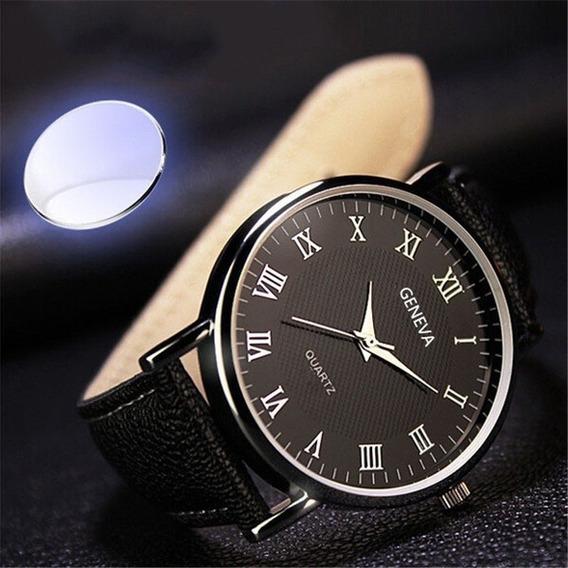 Relógio Quartz Luxo Lançamento Geneva Importado Frete Grátis