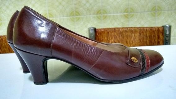 Zapatos De Dama - Cuero - Impecables