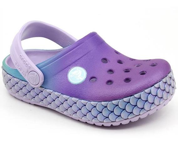 Crocs Crocband Mermaid Metallic Lavanda