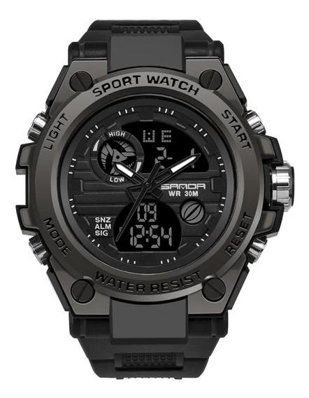 Relógio Esportivo Militar Sanda 739(preto)