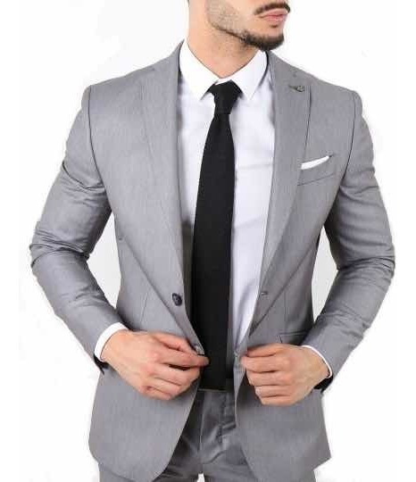Saco Blazer Elegante Hombre Slim Fit Negro Azul Gris Vino