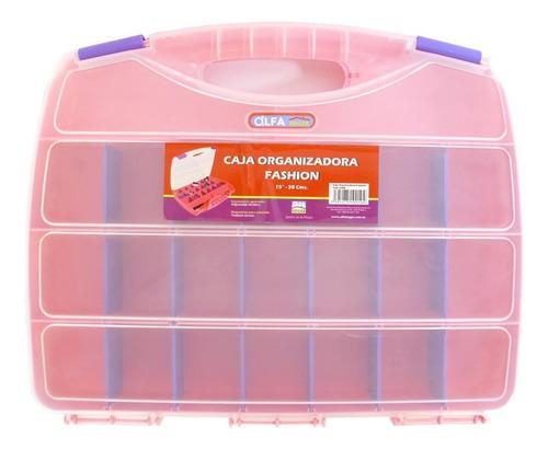Caja Organizadora Plástica Tipo Maleta 23 Esp, Alfa Hogar