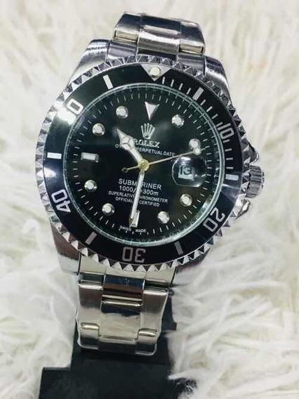Relógio Submariner Silver Pulseira Oyster Aço Inoxidável