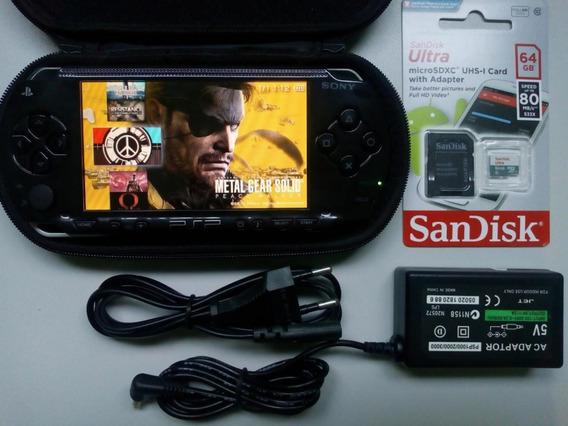 Psp Original Playstation Desbloqueado 177 Jogos Semi Nv 64gb