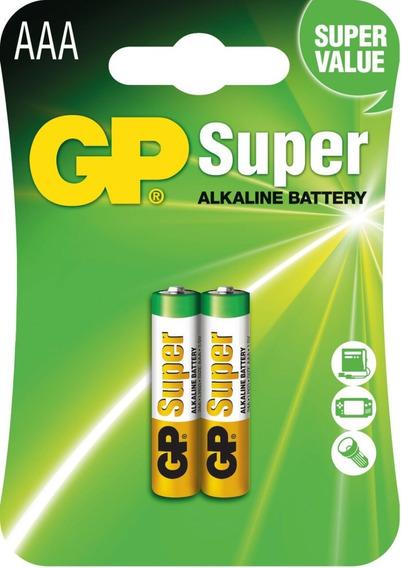 Pilha Gp Aaa 3a 1,5v Super Alcalina Cartela Com 2 Unidades