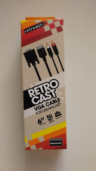 Dreamcast: Cabo Vga N O V O! Audio Stereo + Saída Vga Juntas