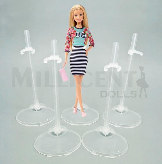 5 Suportes Transparente Barbie Monster High Ever After Etc