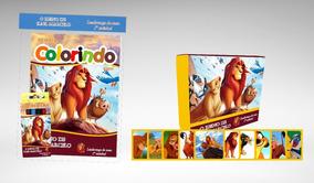 10 Kit Colorir Com Jogo Da Memória Rei Leão Lembrança