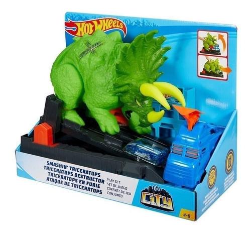 Pista Hotwheels Ataque Triceratops - Giro Didactico Envios