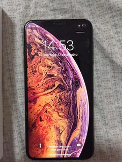 iPhone Xs Max 256gb Gold Desbloquad.o Com Rsim Icloud Limpo