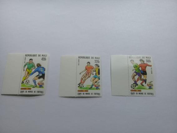 Serie De 3 Sellos De Mali - Mundial España 82