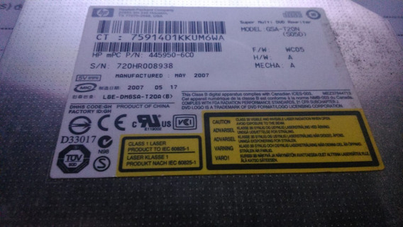 Leitor De Dvd/cd Hp Original Usado Gsa-t20n