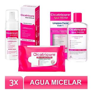 Pack Sistema Micelar Cicatricure Agua+toallitas+moussefacial