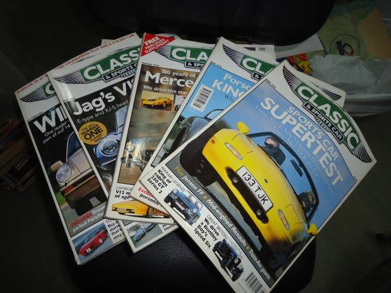 Classic & Sport Car Lote Com 35 Revistas Carro Antigo Raro
