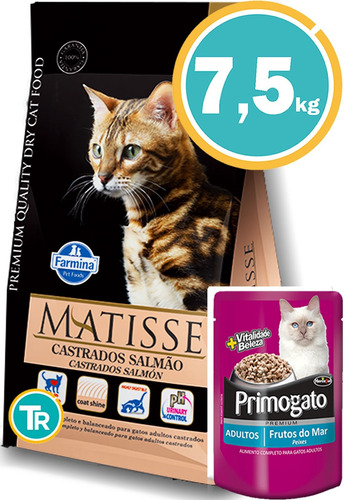 Ración Gato Matisse Castrado Salmón + Obsequio Y E. Gratis