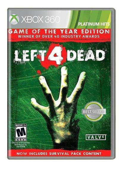Left 4 Dead Game Of The Year Edition Xbox 360 Mídia Física