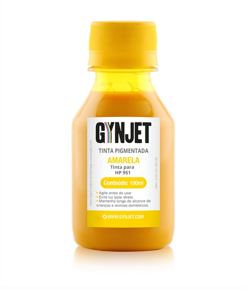 Tinta Para Cartucho Hp 951 Yellow 100 Ml Gynjet