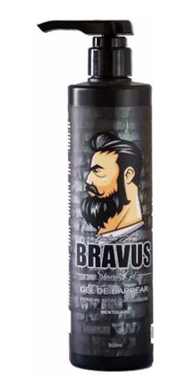 Shaving Gel De Barbear Bravus 500ml Menthol Unidade