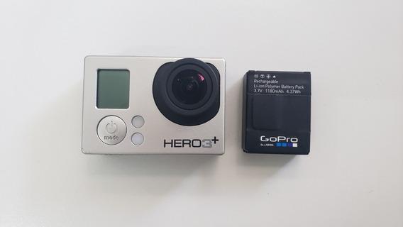 Gopro Hero 3+ Silver ( Com Bateria Extra E Cartão 16gb )