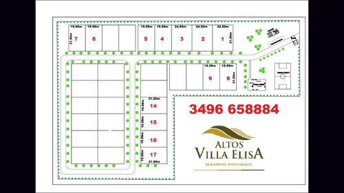 Imagen 1 de 4 de Vendo Lotes Barrio Privado  Altos Villa Elisa