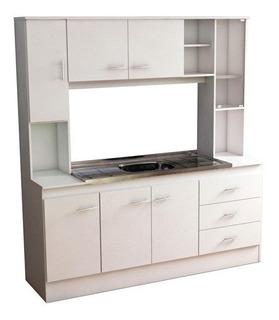 Mueble Organizador Kit Amoblamiento Completo Cocina Mesada