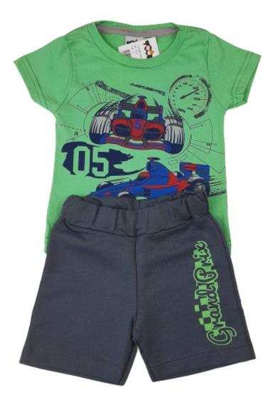 Kit 10 Roupas Infantil Masculino Bebe Menino T1 Atacado
