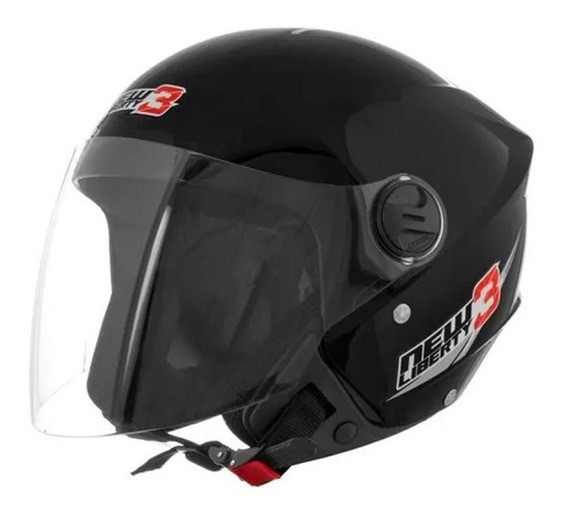 Capacete New Liberty Three Preto Fosco 56