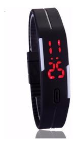 Relógio Led Digital Sport Bracelete Pulseira Silicone Nike