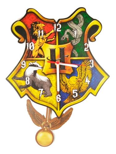 Imagem 1 de 3 de Relógio Parede Pêndulo Harry Potter